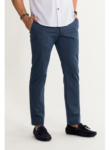 Avva Erkek  Yandan Cepli Armürlü Slim Pantolon A01S3078 İndigo